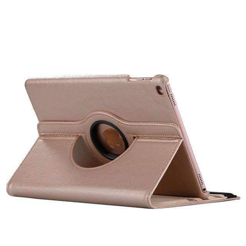 360 Degree Rotating Leather Smart Shell Cover Case for Apple iPad mini 4 iPad mini 5 A1538 A1550 - Gold - Accessories
