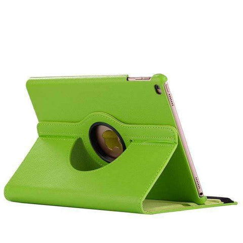 360 Degree Rotating Leather Smart Shell Cover Case for Apple iPad mini 4 iPad mini 5 A1538 A1550 - Green - Accessories