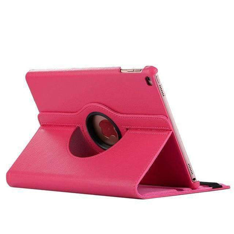 360 Degree Rotating Leather Smart Shell Cover Case for Apple iPad mini 4 iPad mini 5 A1538 A1550 - Hot pink - Accessories