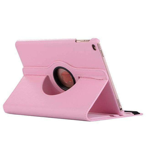 360 Degree Rotating Leather Smart Shell Cover Case for Apple iPad mini 4 iPad mini 5 A1538 A1550 - Pink - Accessories