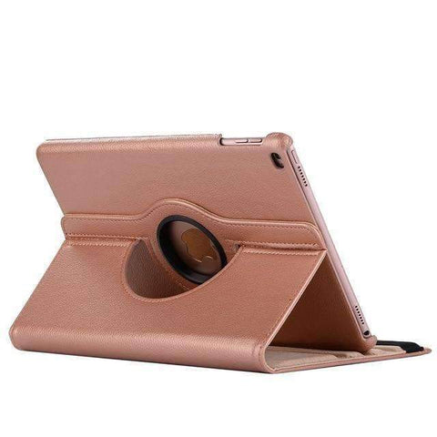 360 Degree Rotating Leather Smart Shell Cover Case for Apple iPad mini 4 iPad mini 5 A1538 A1550 - Rose Gold - Accessories