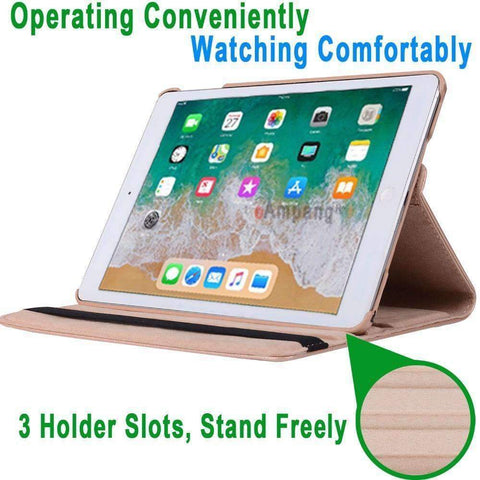 Image of 360 Degree Rotating Leather Smart Shell Cover Case for Apple iPad mini 5 A2133 A2124 A2125 A2126 - Accessories
