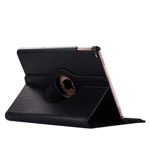 360 Degree Rotating Leather Smart Shell Cover Case for Apple iPad mini 5 A2133 A2124 A2125 A2126 - Black - Accessories