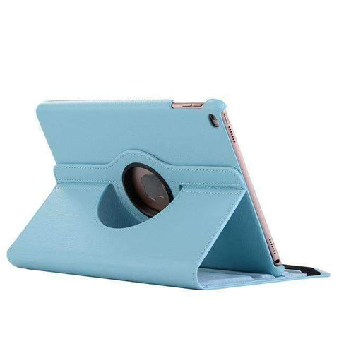 360 Degree Rotating Leather Smart Shell Cover Case for Apple iPad mini 5 A2133 A2124 A2125 A2126 - Blue - Accessories