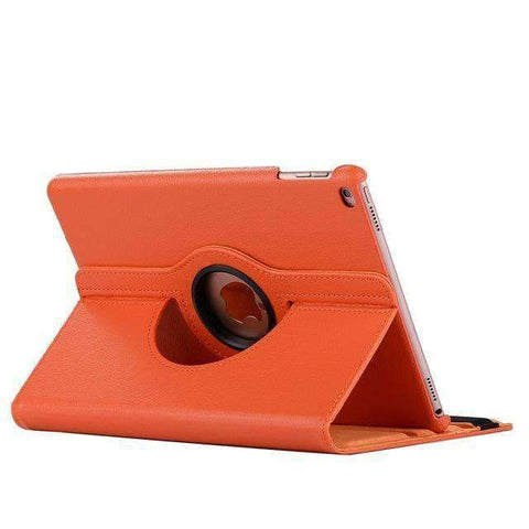 360 Degree Rotating Leather Smart Shell Cover Case for Apple iPad mini 5 A2133 A2124 A2125 A2126 - Orange - Accessories
