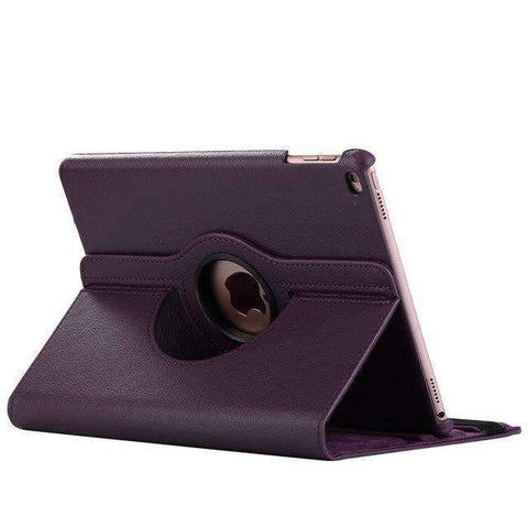 360 Degree Rotating Leather Smart Shell Cover Case for Apple iPad mini 5 A2133 A2124 A2125 A2126 - Purple - Accessories