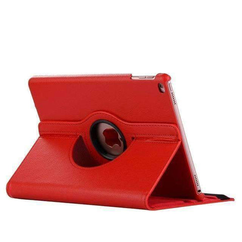 360 Degree Rotating Leather Smart Shell Cover Case for Apple iPad mini 5 A2133 A2124 A2125 A2126 - Red - Accessories