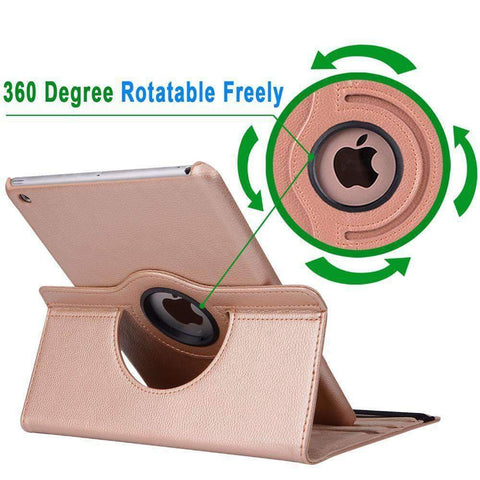 360 Degree Rotating Litchi Pattern Leather Smart Shell Case Cover for Apple iPad mini 1 2 3 - Accessories