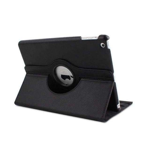 360 Degree Rotating Litchi Pattern Leather Smart Shell Case Cover for Apple iPad mini 1 2 3 - Black - Accessories