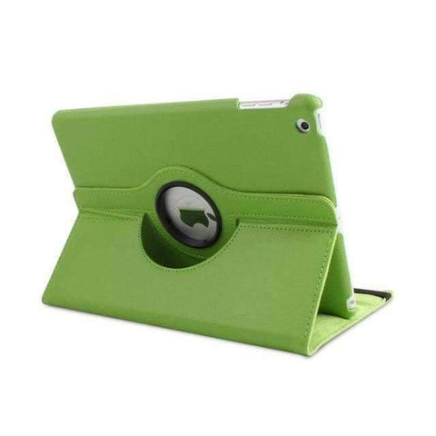 360 Degree Rotating Litchi Pattern Leather Smart Shell Case Cover for Apple iPad mini 1 2 3 - Green - Accessories