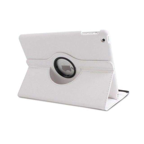 360 Degree Rotating Litchi Pattern Leather Smart Shell Case Cover for Apple iPad mini 1 2 3 - White - Accessories