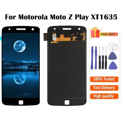 Image of AMOLED LCD Touch Screen Digitizer Display for Motorola Moto Z Play XT1635 - Black AMOLED - LCD's & Digitizers