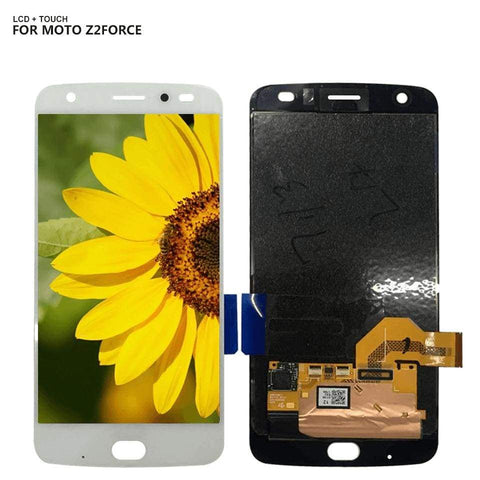 AMOLED LCD Touch Screen Digitizer Display for Motorola Moto Z2 Force XT1789 - White - LCD's & Digitizers