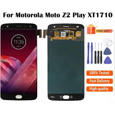 AMOLED LCD Touch Screen Digitizer Display for Motorola Moto Z2 Play XT1710 - Black - LCD's & Digitizers