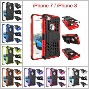 Apple iPhone 7 / iPhone 8 Heavy Duty Armor Phone Case Cover with Stand - Cases