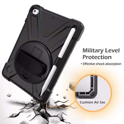 Image of Armor Silicon Shoulder Hand Strap Case for Apple iPad mini 4 mini 5 2019 - Accessories