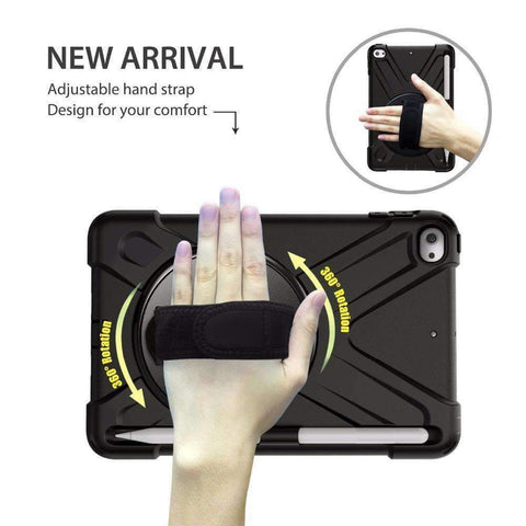 Armor Silicon Shoulder Hand Strap Case for Apple iPad mini 4 mini 5 2019 - Accessories