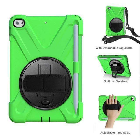 Armor Silicon Shoulder Hand Strap Case for Apple iPad mini 4 mini 5 2019 - Green - Accessories
