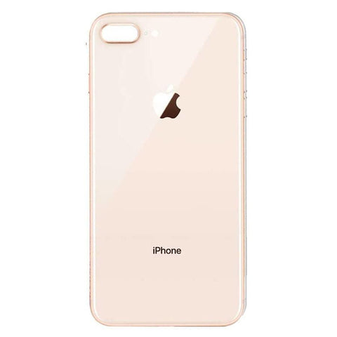 Image of Back Glass Rear Battery Door Cover Replacement iPhone 8 Plus A1864 A1897 A1898 - Gold / OEM Small Camera Hole