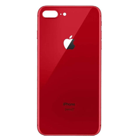 Image of Back Glass Rear Battery Door Cover Replacement iPhone 8 Plus A1864 A1897 A1898 - Red / OEM Small Camera Hole
