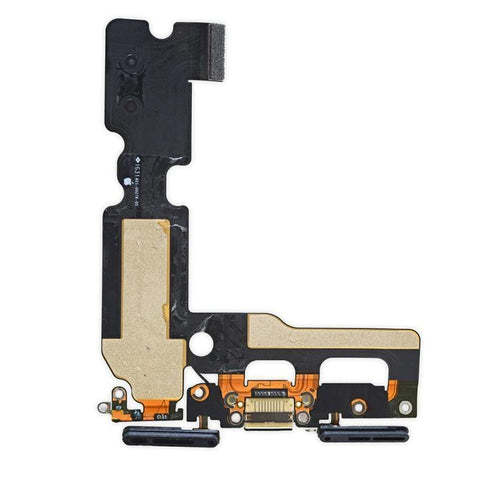 Image of New iPhone 7 4.7 Charging Dock Port Assembly Flex Cable - Black - Charge Ports