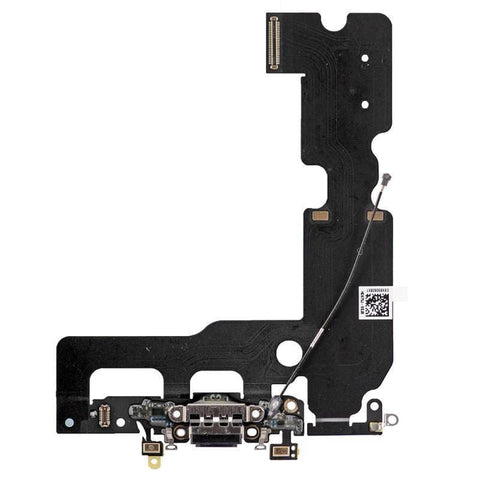 New iPhone 7 Plus 5.5 Charging Dock Port Assembly Flex Cable - Black - Charge Ports