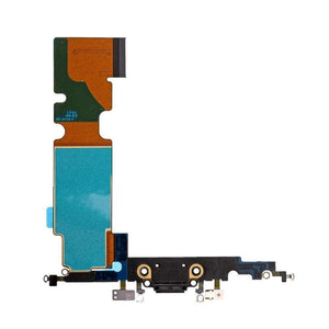 New iPhone 8 Plus Charging Dock Port Assembly Flex Cable with Microphone - Black - Charge Ports