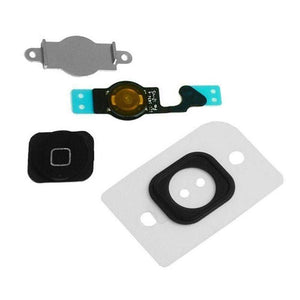 Black Home Button flex cable + Key Cap + Bracket Holder + Spacer for the iPhone 5 - Home Button