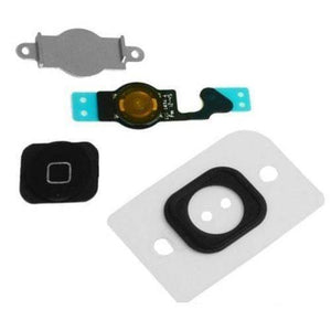 Black Home Button flex cable + Key Cap + Bracket Holder + Spacer iPhone 5C - Home Button
