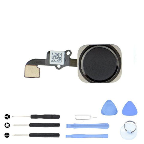 Image of Black Home Button flex for iPhone 6 A1549 A1586 A1589 6 Plus A1522 A1524 A1593 - With Tool Kit - Home Button