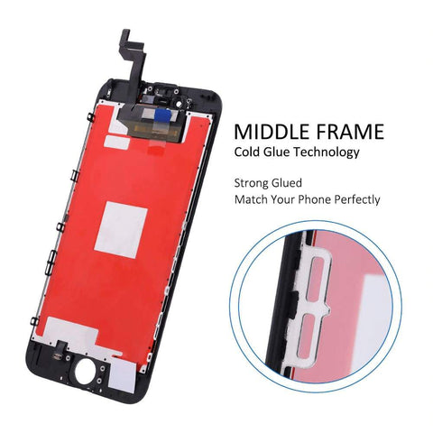 Image of Black LCD Touch Screen Digitizer Assembly for iPhone 6S A1633 A1688 A1691 A1700 - LCDs & Digitizers