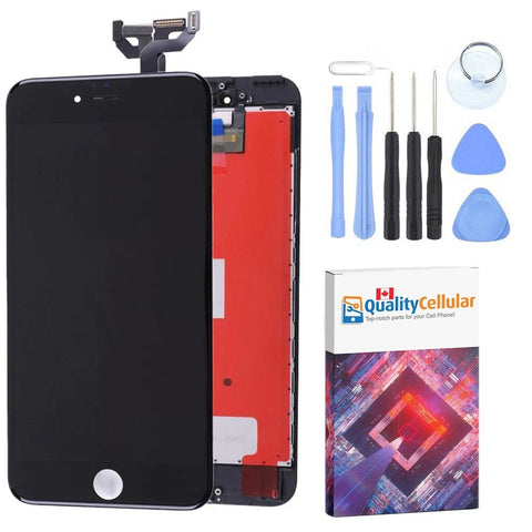 Image of Black LCD Touch Screen Digitizer Assembly for iPhone 6S Plus A1634 A1687 A1699 - LCD's & Digitizers