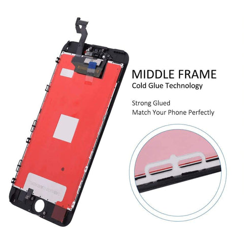Image of Black LCD Touch Screen Digitizer Assembly for iPhone 6S Plus A1634 A1637 A1690 - LCDs & Digitizers