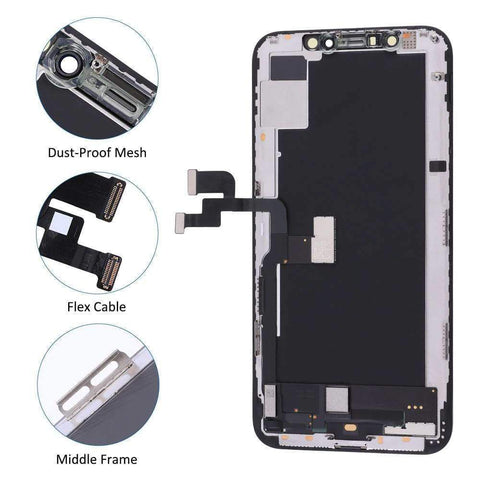 Black LCD Touch Screen Digitizer Assembly Replacement for iPhone XS A1920 A2097 - LCDs & Digitizers