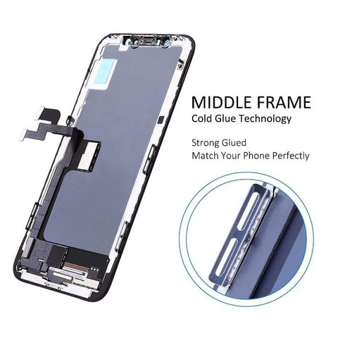 Black LCD Touch Screen Digitizer Assembly with 3D Touch for iPhone X A1865 A1901 - LCDs & Digitizers