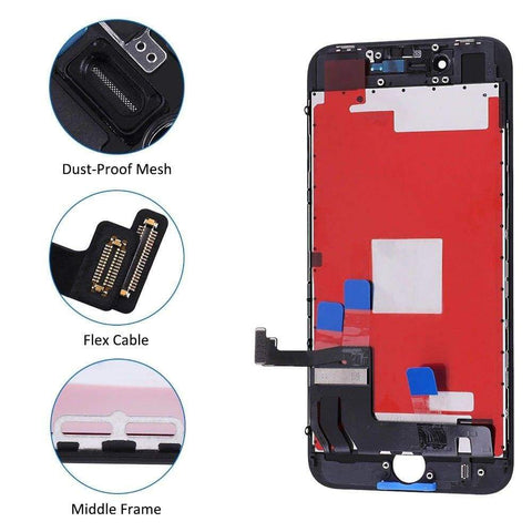 Image of Black LCD Touch Screen Digitizer Replacement Assembly for iPhone 8 A1863 A1905 - LCDs & Digitizers