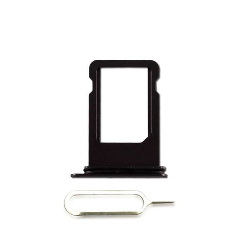 Image of New iPhone 8 SIM Card Tray Holder with Eject Tool - Black - SIM Card Tray