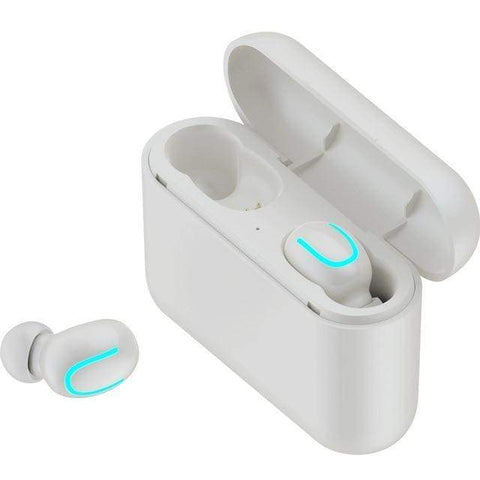 Bluetooth 5.0 Earphones HBQ TWS Wireless Handsfree Headphone Sport Earbuds - Binaural White - Accessories