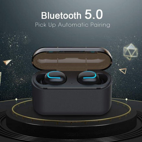 Bluetooth 5.0 Earphones HBQ TWS Wireless Handsfree Headphone Sport Earbuds - Accessories