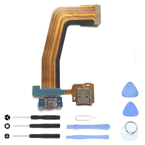 Image of Charging Port Dock with flex cable for Samsung Galaxy Tab S 10.5 SM-T800 SM-T805 - With Tool Kit - Charge Ports