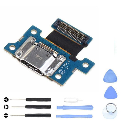 Image of Charging Port Dock with flex cable for Samsung Galaxy Tab S 8.4 SM-T700 - With Tool Kit - Charge Ports