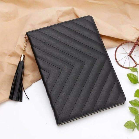 Image of Fashion Luxury Twill PU Leather Smart Tablet Case Cover for Apple iPad mini 1 2 3 - Black - Accessories