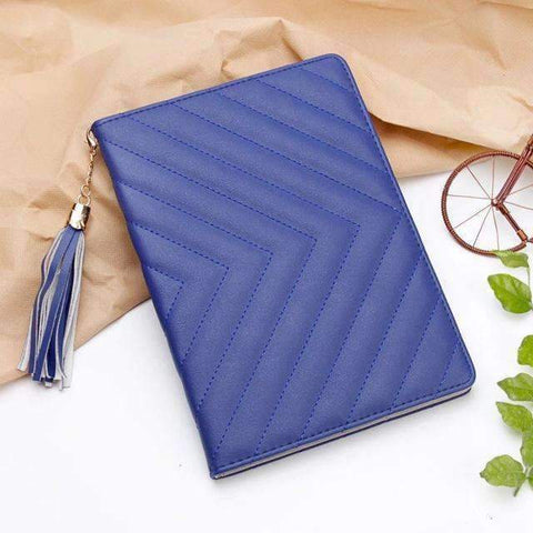 Image of Fashion Luxury Twill PU Leather Smart Tablet Case Cover for Apple iPad mini 1 2 3 - Blue - Accessories