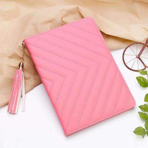 Image of Fashion Luxury Twill PU Leather Smart Tablet Case Cover for Apple iPad mini 1 2 3 - hot pink - Accessories