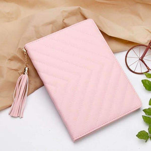 Fashion Luxury Twill PU Leather Smart Tablet Case Cover for Apple iPad mini 1 2 3 - Pink - Accessories