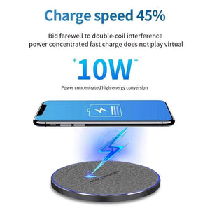 Fast Charging 10w Qi Wireless Charger iPhone 11 Pro XS XR X 8 Airpods Samsung - Wireless Chargers