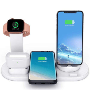 Fast Charging Wireless Charger Stand 3 in 1 for Apple Watch Airpods Qi iPhone - Wireless Chargers