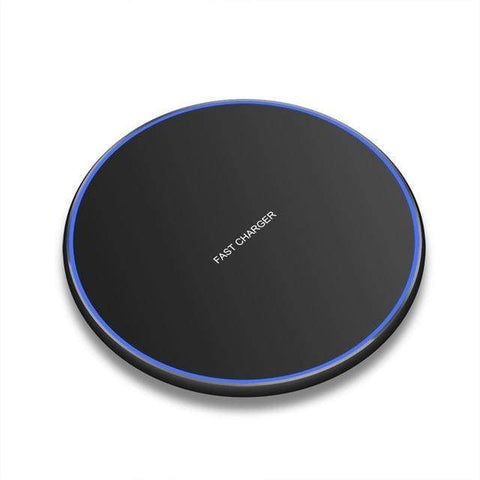 Image of Fast Qi Wireless Charger For iPhone X XS Max XR 8 Plus Samsung S8 S9 S10 Note 9 - MODEL 1 BLACK - Wireless Chargers