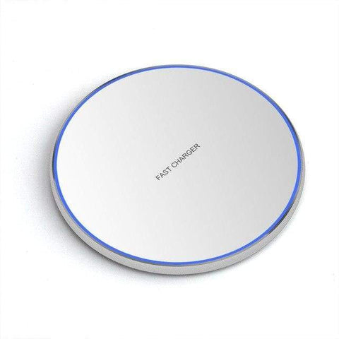 Image of Fast Qi Wireless Charger For iPhone X XS Max XR 8 Plus Samsung S8 S9 S10 Note 9 - MODEL 1 WHITE - Wireless Chargers