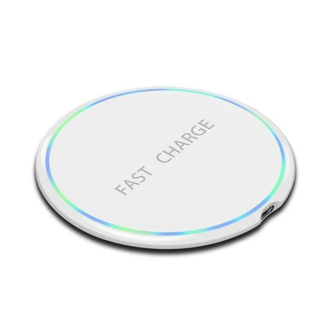 Image of Fast Qi Wireless Charger For iPhone X XS Max XR 8 Plus Samsung S8 S9 S10 Note 9 - MODEL 2 WHITE - Wireless Chargers